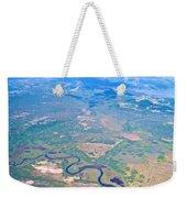 Winding River From The Seaplane In Katmai National Preserve-alaska Weekender Tote Bag