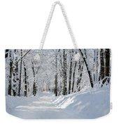 Winding Snowy Road In Winter Weekender Tote Bag