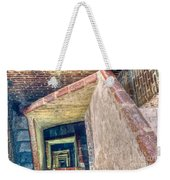 Winding Square Staircase Of Old Brick-walled Tower Weekender Tote Bag