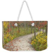 Winding Woods Walk Weekender Tote Bag