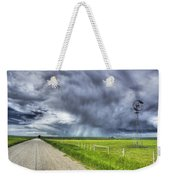 Windmill And Country Road With Storm Weekender Tote Bag