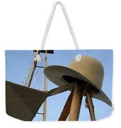 Windmill Canteen And Cowboy Hat 1 Weekender Tote Bag