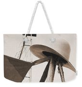 Windmill Canteen And Cowboy Hat 4 Weekender Tote Bag