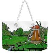Windmill In A Park In Enkhuizen-netherlands Weekender Tote Bag