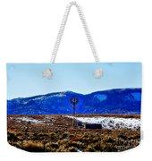 Windmill In The Snow Weekender Tote Bag