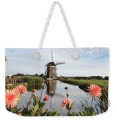 Windmill Landscape In Holland Weekender Tote Bag
