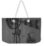 Windmill Patent Barn Wall Weekender Tote Bag