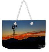 Windmill Silhouette Weekender Tote Bag by Robert Bales