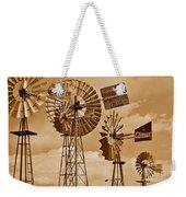 Windmills In Sepia Weekender Tote Bag