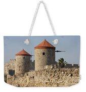 Windmills Of Rhodos - Port Of The Myloi Weekender Tote Bag