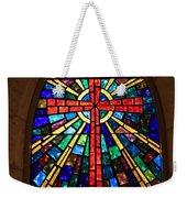 Window At The Little Church In La Villita Weekender Tote Bag