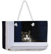 Window Cat Weekender Tote Bag