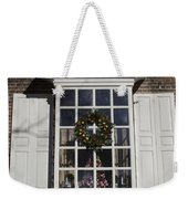 Window Decorations In Williamsburg Weekender Tote Bag
