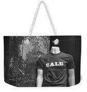 Window Display Sale In Black And White Photograph With Mannequin No.0129 Weekender Tote Bag