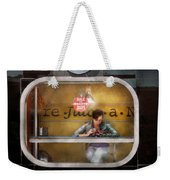 Window - Hoboken Nj - Hale And Hearty Soups  Weekender Tote Bag by Mike Savad