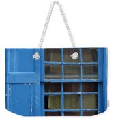 window in blue - British style window in a mediterranean blue Weekender Tote Bag