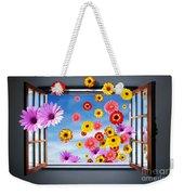 Window Of Flowers Weekender Tote Bag