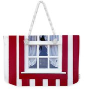 Window On Stripes Weekender Tote Bag by Carlos Caetano