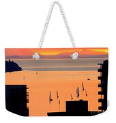 Window On Vancouver Weekender Tote Bag
