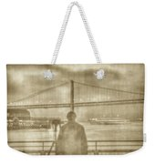 window self-portrait Embarcadero San Francisco Weekender Tote Bag