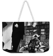Window Shopping Cowboy Weekender Tote Bag