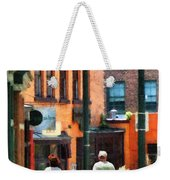 Window Shopping In Downtown Asheville Weekender Tote Bag