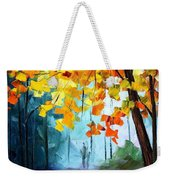 Window To The Fall - Palette Knife Oil Painting On Canvas By Leonid Afremov Weekender Tote Bag