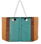 Window With Turqouise Shutters In Colmar France Weekender Tote Bag