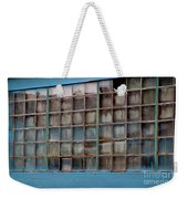 Windows In Blue Building 3 Weekender Tote Bag