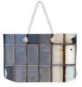 Windows In Blue Building Vertical Weekender Tote Bag