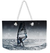 Windsurfing With Water Drops On Camera Weekender Tote Bag