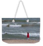 Windy Beach Walk Weekender Tote Bag
