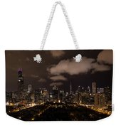 Windy City At Night Weekender Tote Bag