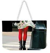 Windy Morning In Manhattan Weekender Tote Bag