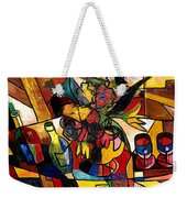 Wine And Flowers For Two Weekender Tote Bag