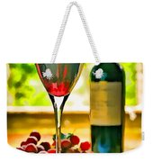 Wine And Grapes In The Window Weekender Tote Bag