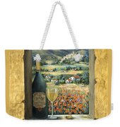 Wine And Poppies Weekender Tote Bag by Marilyn Dunlap
