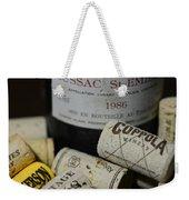 Wine And Wine Corks Weekender Tote Bag by Paul Ward