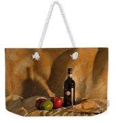 Wine Apples And Cheese Weekender Tote Bag