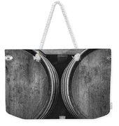 Wine Barrels Monochrome Weekender Tote Bag