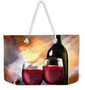 Wine Before And After Weekender Tote Bag