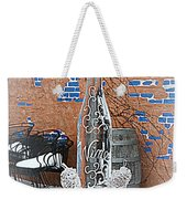 Wine Bottle Ice Sculpture Weekender Tote Bag