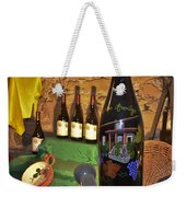 Wine Bottle On Display Weekender Tote Bag
