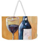 Wine Bottle Still Life Weekender Tote Bag by Todd Bandy