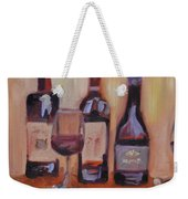 Wine Bottle Trio Weekender Tote Bag