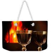 Wine By The Fire Weekender Tote Bag
