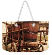 Wine Cart In Alsace France Weekender Tote Bag