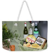 Wine Cheese And Crackers Weekender Tote Bag