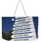 Wine Country Signs Weekender Tote Bag