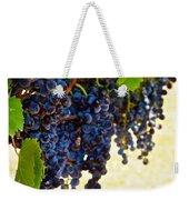 Wine Grapes Weekender Tote Bag by Kristina Deane